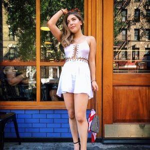 WORN ONCE LF white dress
